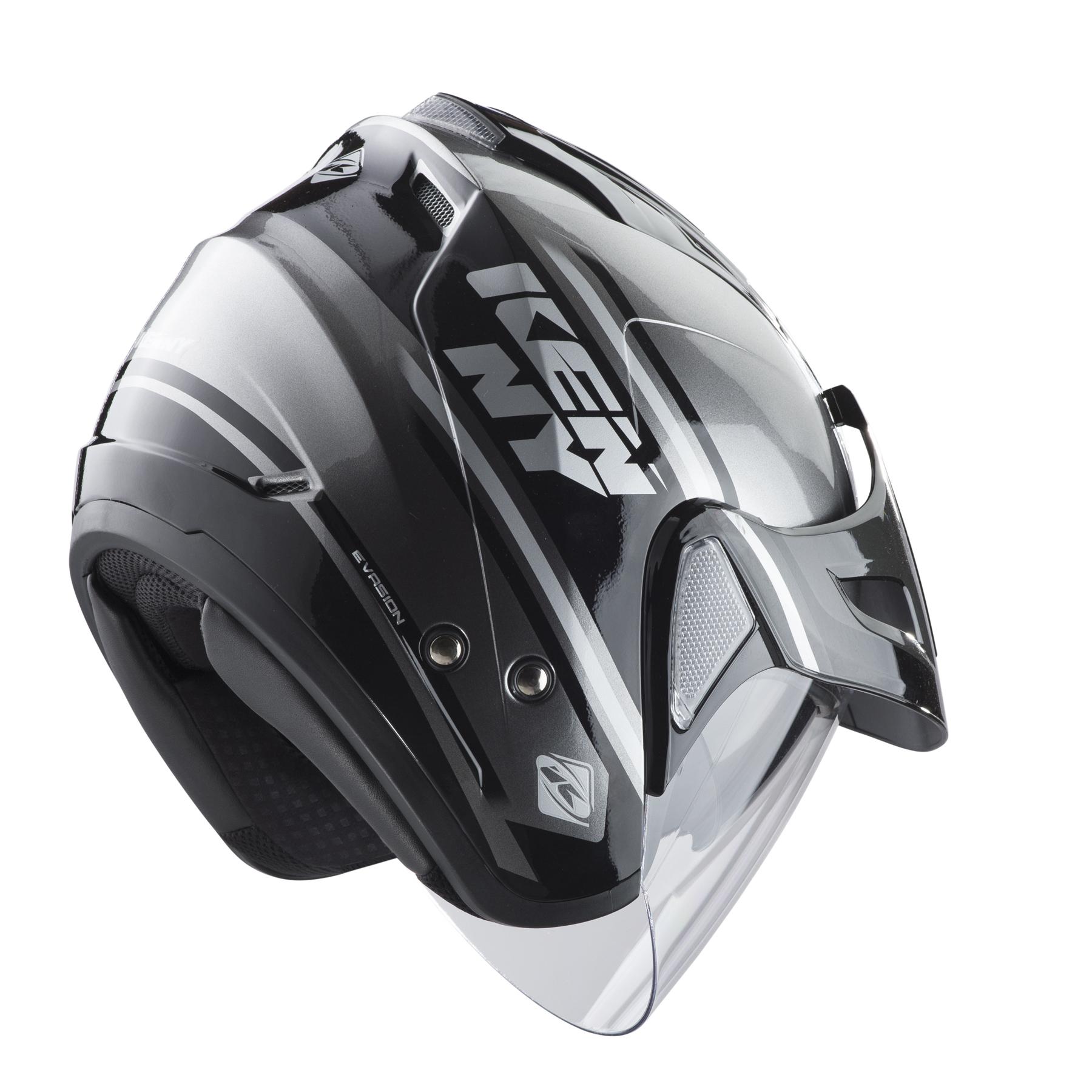 helmet evasion black grey kenny racing. Black Bedroom Furniture Sets. Home Design Ideas
